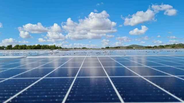 Un parque de placas solares del grupo.