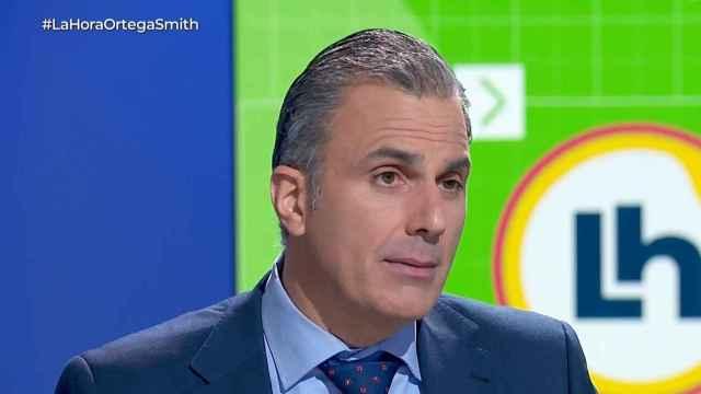 Ortega Smith durante su entrevista.