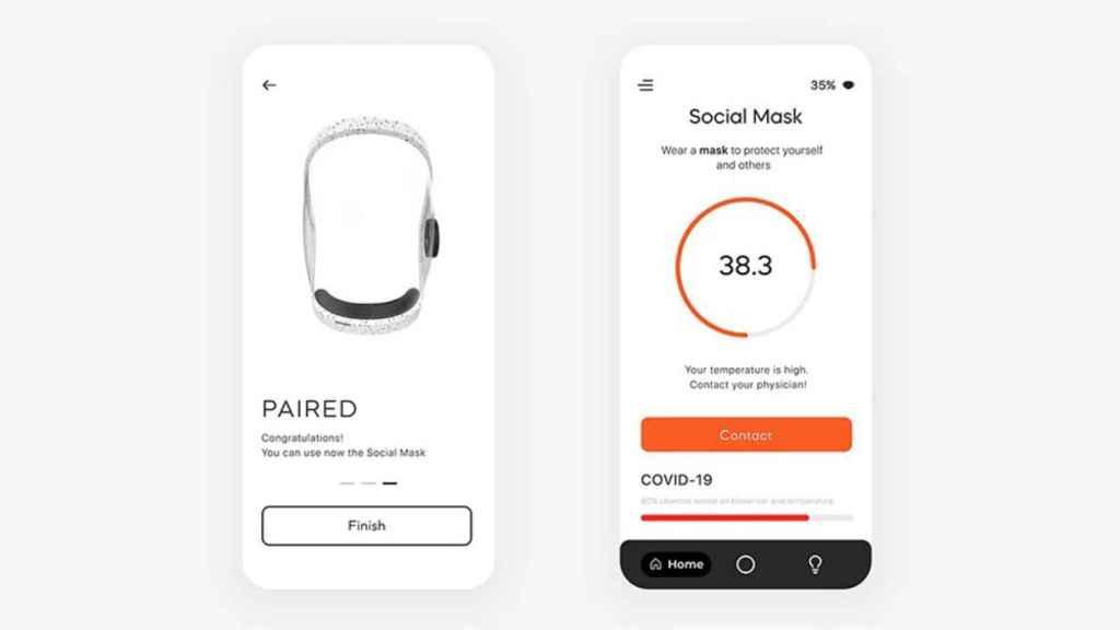 Aplicación de 'Social Mask'.
