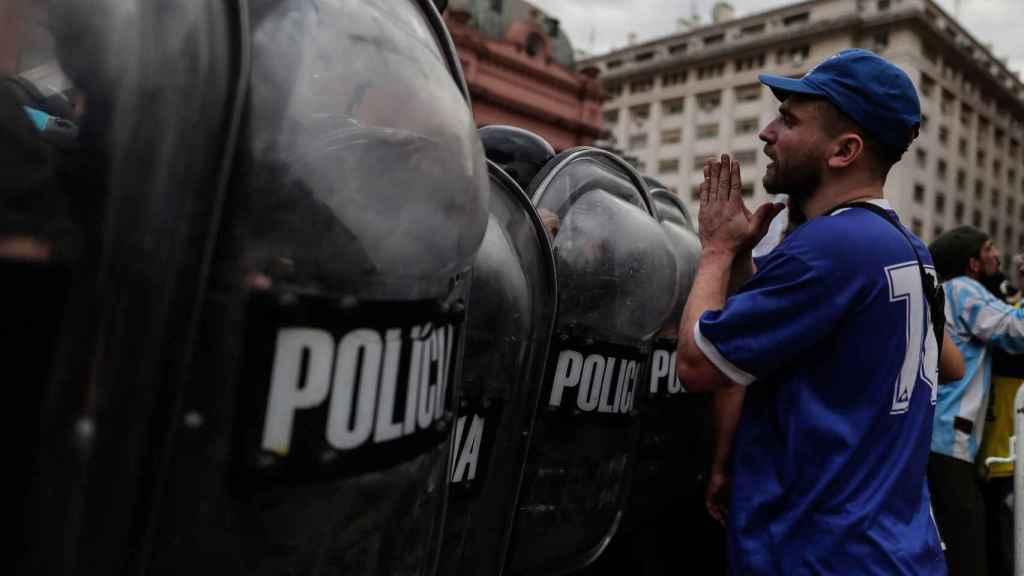 Altercados en el velatorio de Maradona en la Casa Rosada