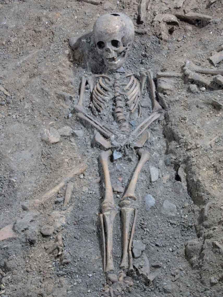 El cadáver de un niño de unos 4-5 años hallado en el Silo.