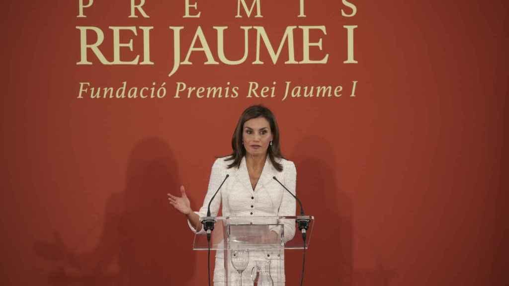 El discurso de Letizia en los Premios Jaime I en 2017.