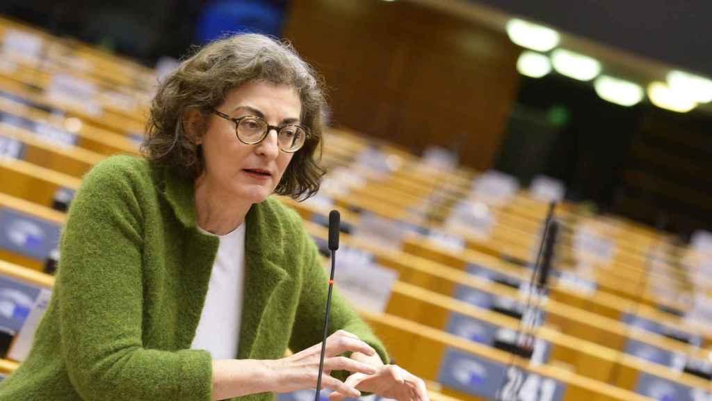 La eurodiputada de Ciudadanos, Maite Pagazaurduntúa, durante un debate en el pleno