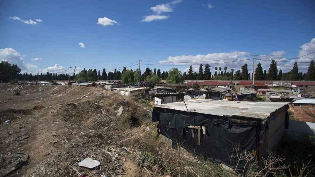 Una imagen del poblado chabolista conocido como el Vacie.