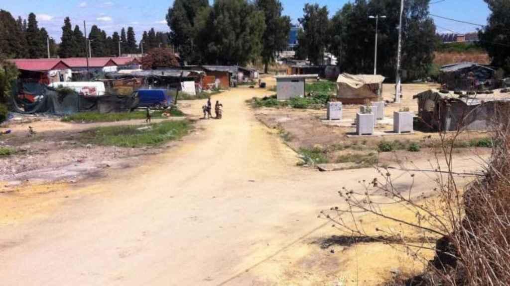 Otra imagen del poblado chabolista.