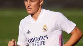 Martin Odegaard con el Real Madrid