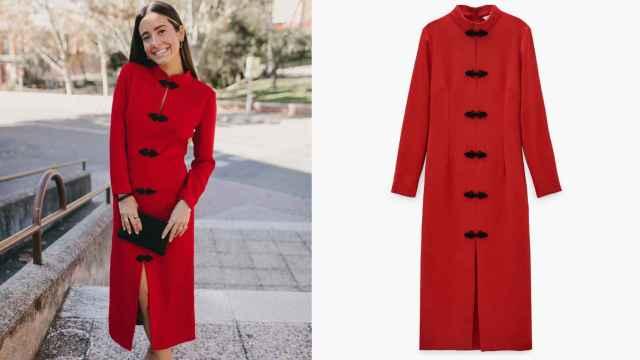 María F. Rubíes tiene el vestido rojo de Zara más buscado esta temporada,  ¡y está rebajado!