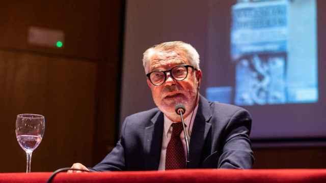 Joan Ignasi Culla, durante la presentación de su libro 'Valencià, desperta'.