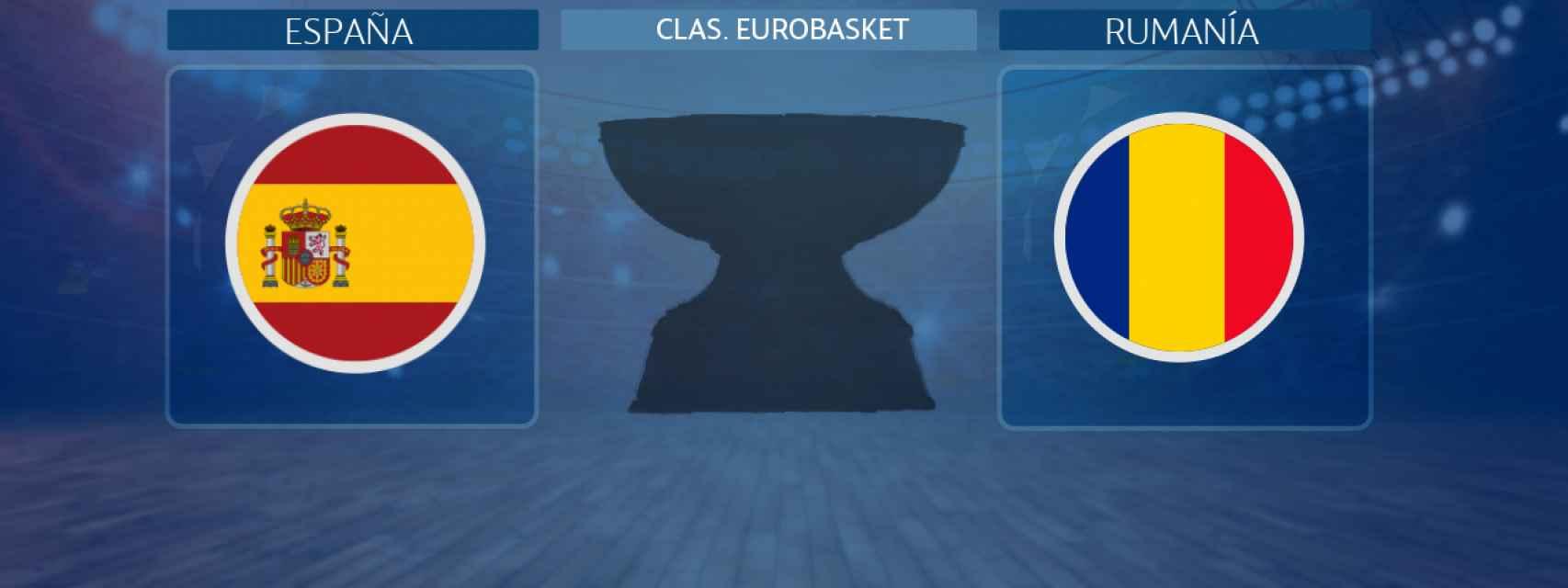 España - Rumanía, partido de la clasificación para el Eurobasket 2022