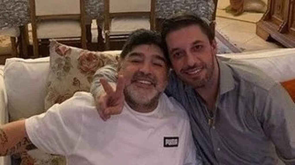Diego Armando Maradona y Matías Morla, abogado y último representante del 'Pelusa'