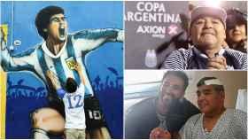 Diego Maradona, en un collage tras su muerte
