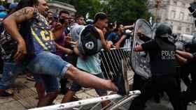 Altercados en el velatorio de Maradona