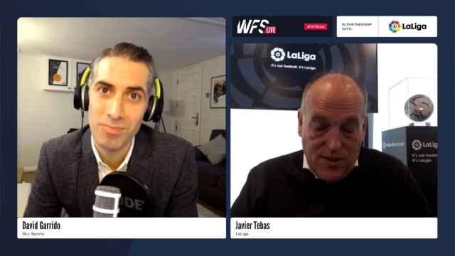Javier Tebas explica los cambios en los test de Covid-19 a los futbolistas