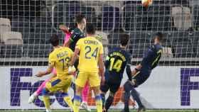 Imagen del partido entre el Maccabi y el Villarreal