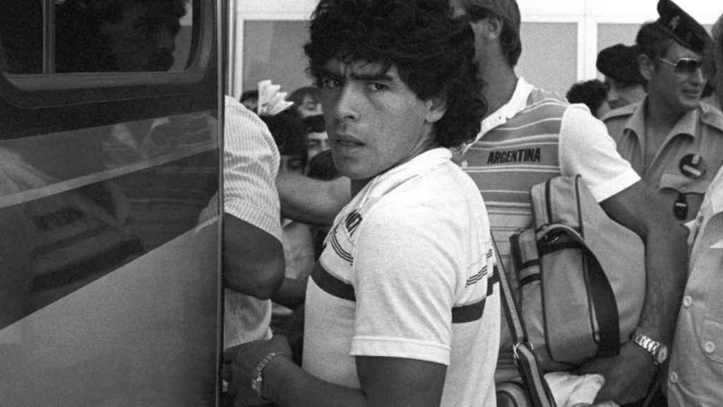 Maradona, en Alicante, durante el Mundial de España 1982