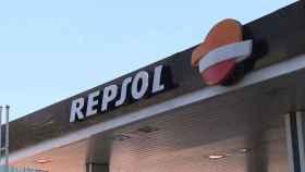 Detalle en una estación de servicio de Repsol.