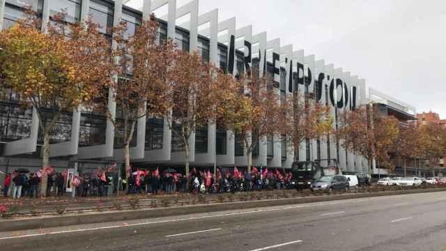 La plantilla de Repsol se manifiesta contra las medidas adoptadas por la empresa