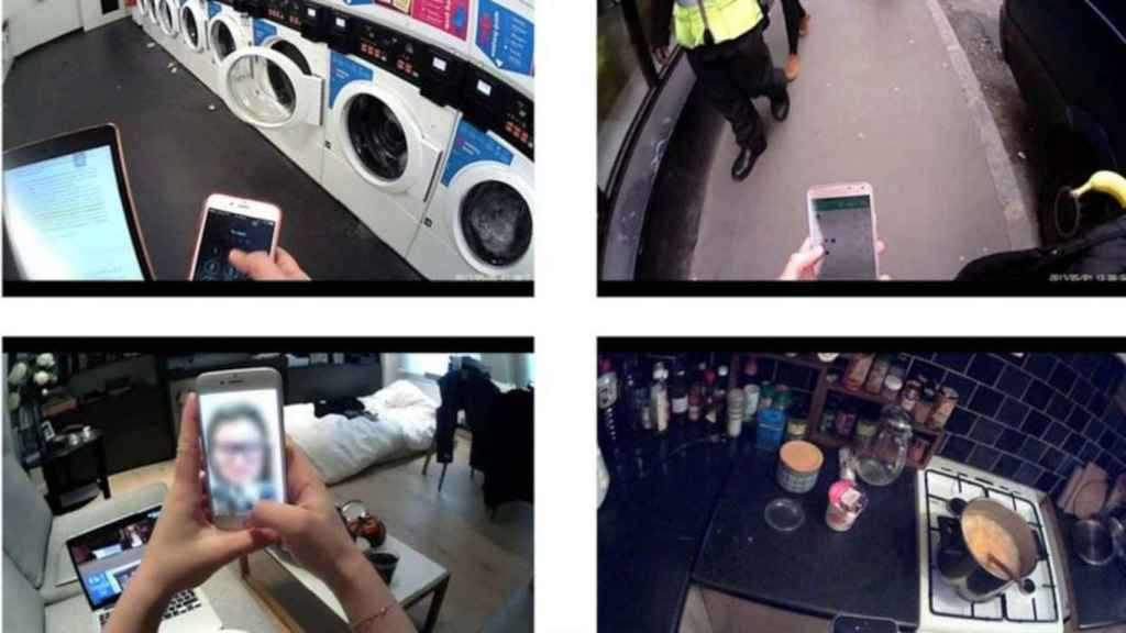 El estudio registró el uso del móvil usando cámaras