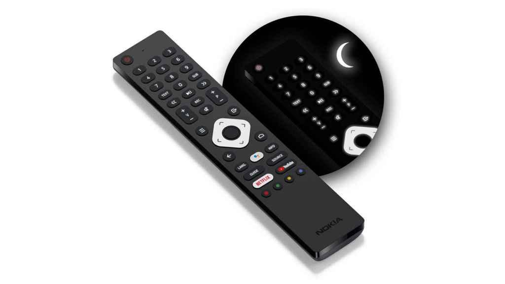 El mando a distancia incluido con los televisores de Nokia