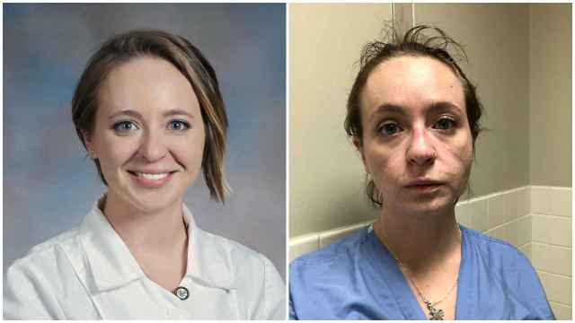 La enfermera Kathryn, antes y después de la pandemia de la Covid-19.