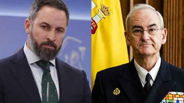 Santiago Abascal y el AJEMA en un fotomontaje.