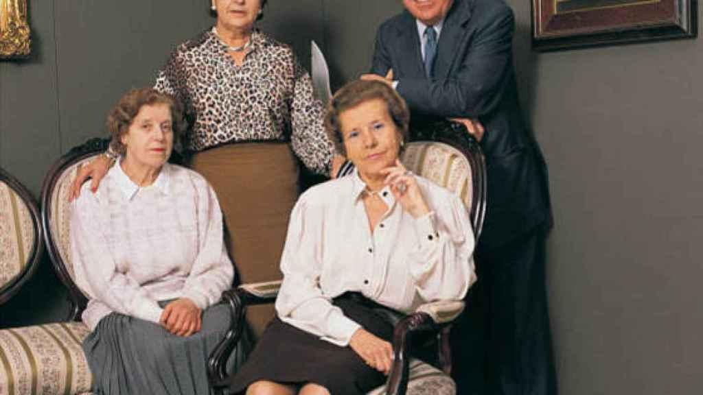 Los cuatro hijos de los fundadores, José, Carmen, Pilar y Lola.