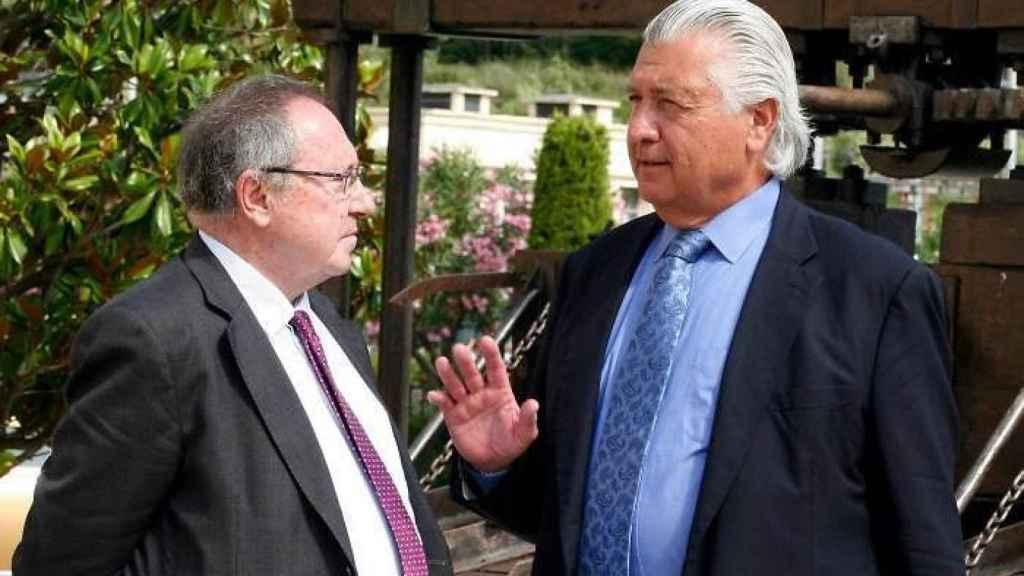 El presidente José Luis Bonet y Enrique Hevia, exdirector financiero de Freixenet.