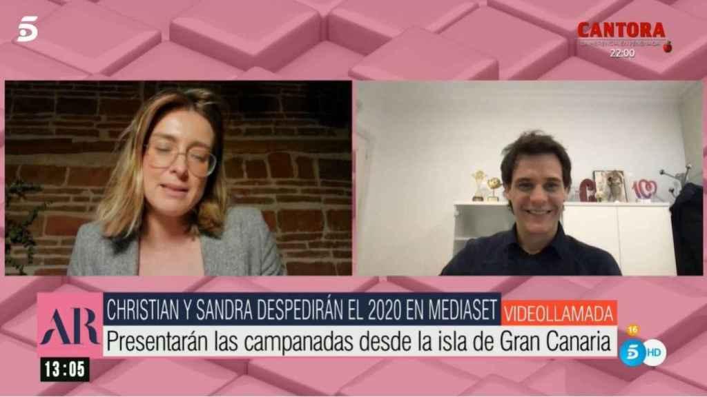 Sadra Barneda y Christian Gálvez han entrado en directo en 'El programa de Ana Rosa'.