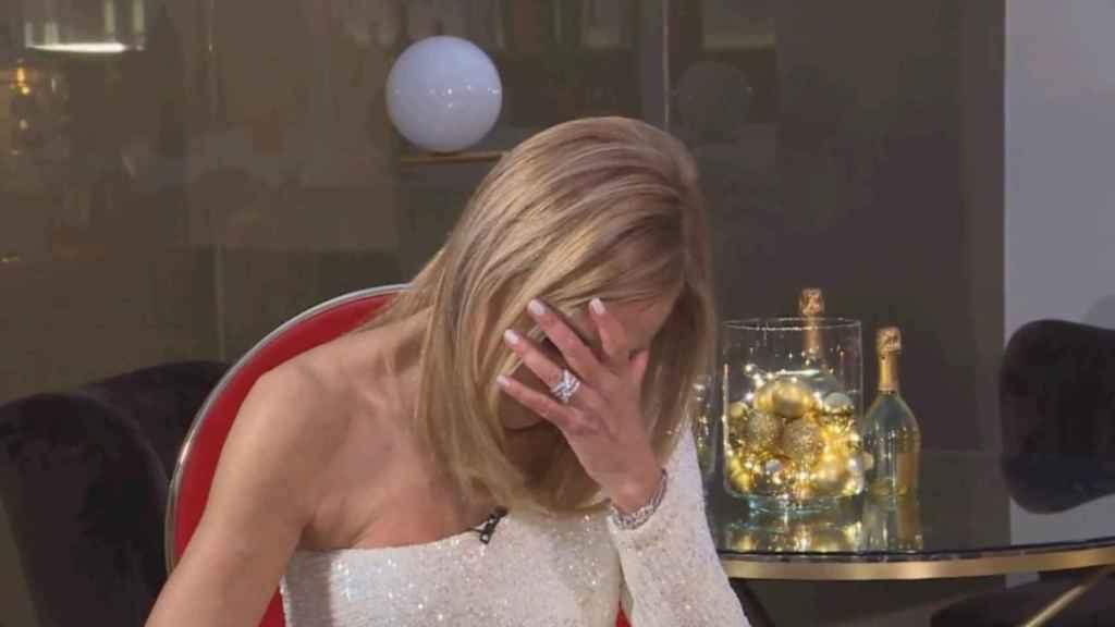 Durante la entrevista que le realizó Ane en la grabación del spot, la actriz no pudo contener las lágrimas.