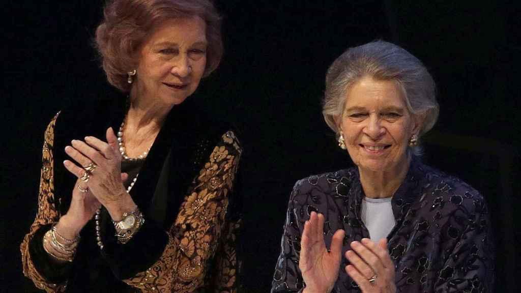 La reina Sofía y su hermana Irene de Grecia.