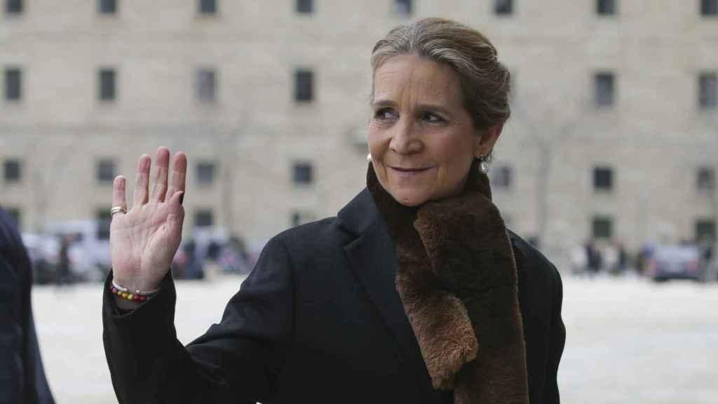 La Infanta Elena, saludando en una imagen de archivo.