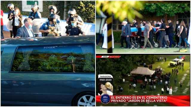 El entierro de Diego Armando Maradona