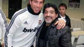 Sergio Ramos y Diego Armando Maradona