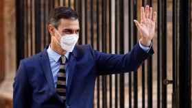 Pedro Sánchez, este miércoles en el Palacio de la Almudaina en Palma de Mallorca.