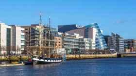El new downtown de Dublín, donde se ubican los grandes players tecnológicos en Irlanda.
