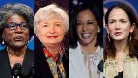 De izda a dcha: Linda Thomas-Greenfield, Janet Yellen, Kamala Harris y Avril Haines.
