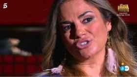 Sylvia Pantoja, emocionada, en el plató de 'Cantora: la herencia envenenada 3'.