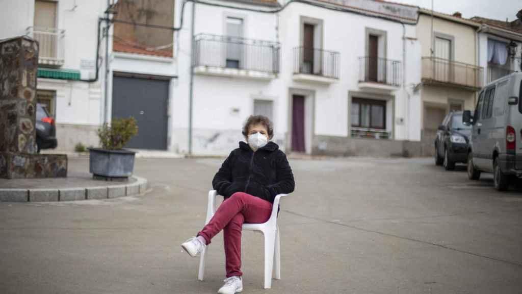 Alicia, maestra y concejala del Ayuntamiento de Pescueza.