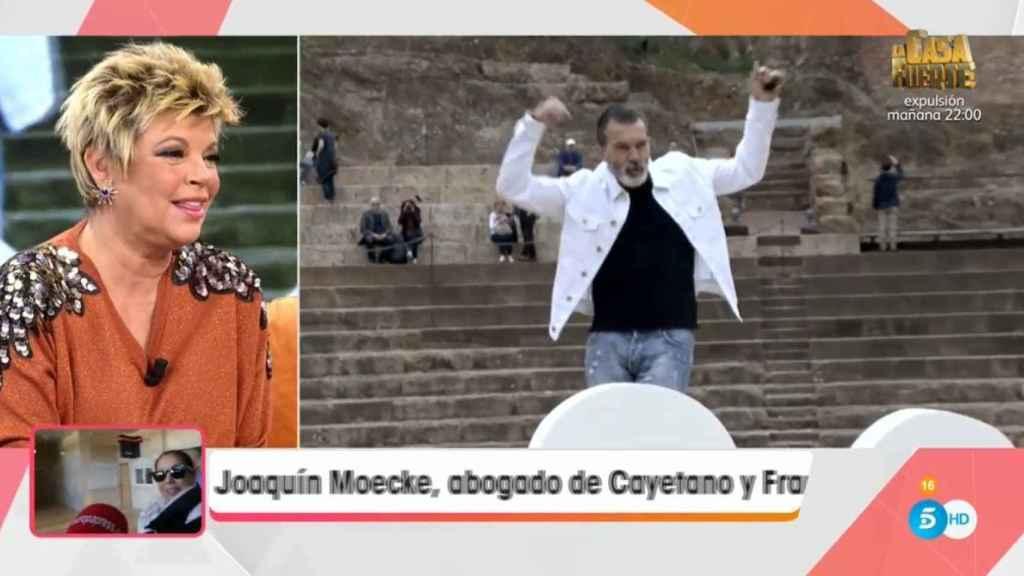 Terelu Campos hablando sobre Antonio Banderas en 'Viva la vida'.