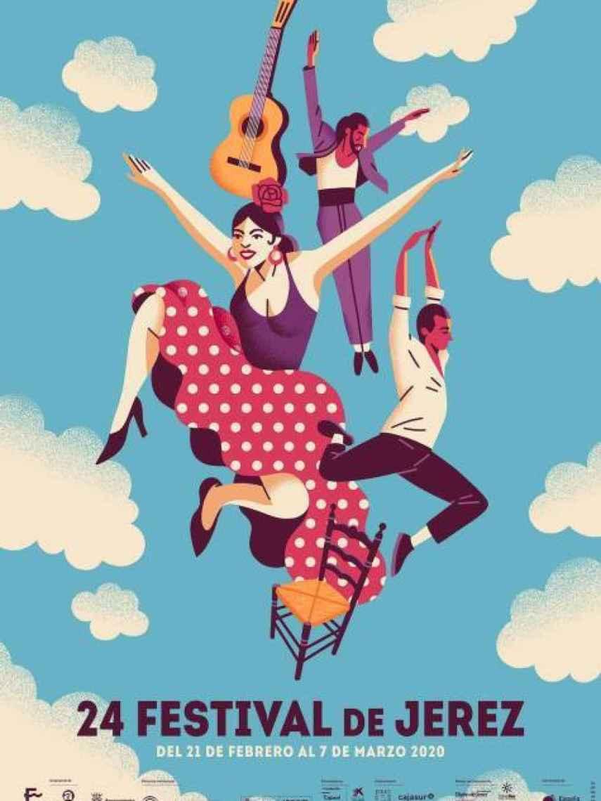 Cartel de la 24ª edición del Festival de Flamenco de Jerez.