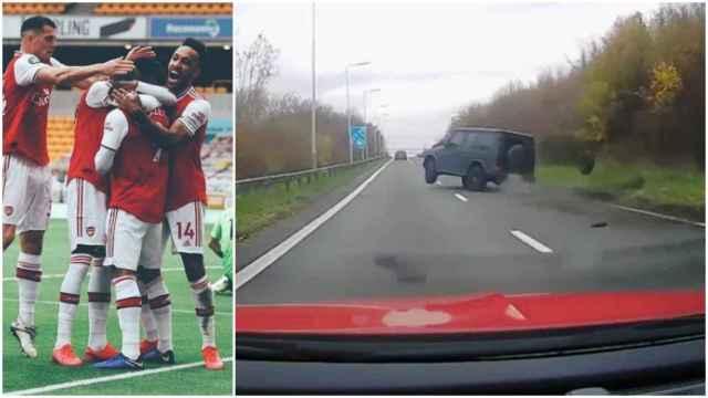 Las imágenes del mundo del deporte: un futbolista del Arsenal estrella su Mercedes de 150.000 euros