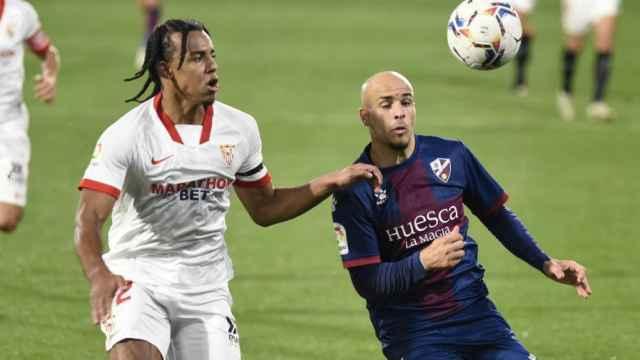 Jules Koundé, en el Huesca - Sevilla de La Liga