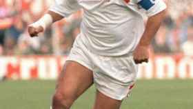Diego Armando Maradona, en un partido del Sevilla FC