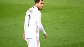Eden Hazard durante el encuentro frente al Alavés