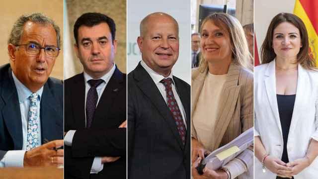 Los consejeros de Educación de Madrid, Galicia, Andalucía, Castilla y León y Murcia, de izquierda a derecha.