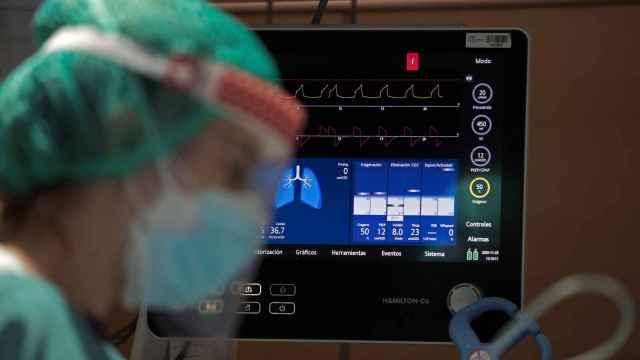 Uno de los monitores de la UCI del Hospital Vall d'Hebron de Barcelona.