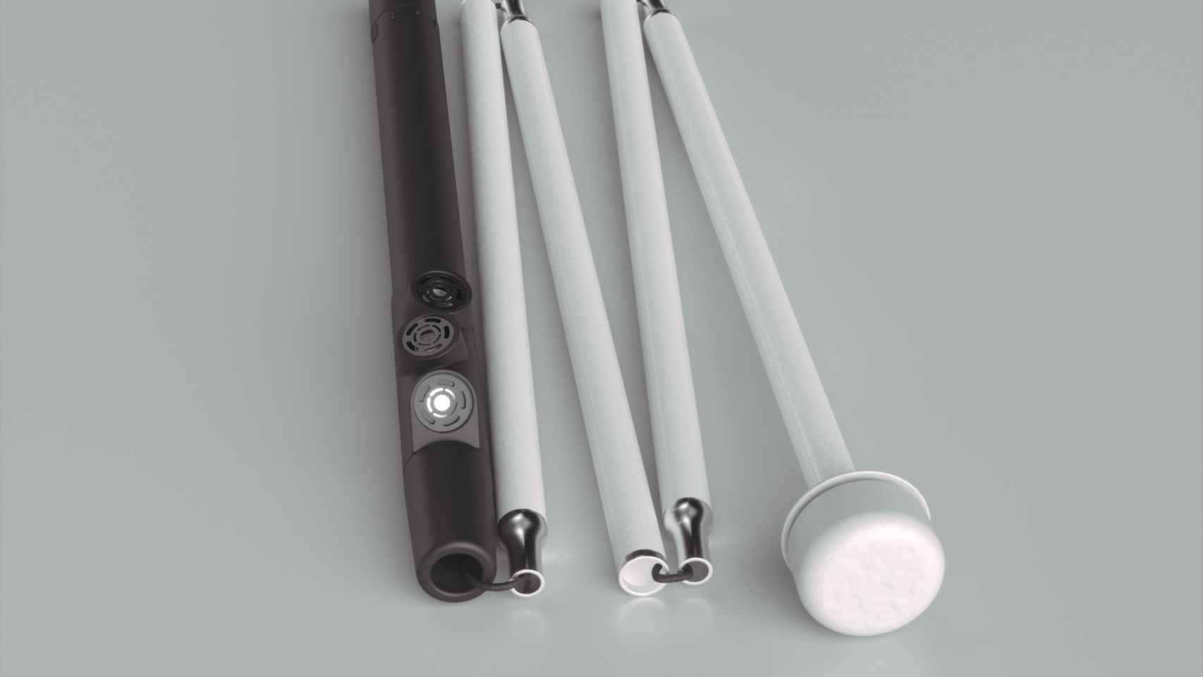 El bastón de la startup Egara se adapta a los tradicionales por las personas ciegas.