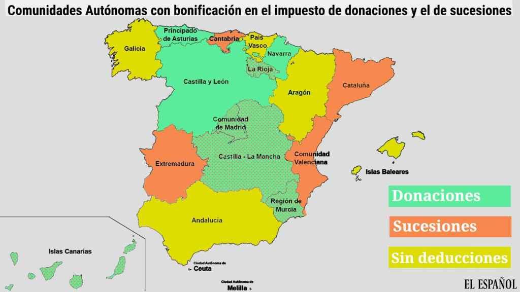 Mapa fiscalidad España