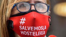 Manifestación en defensa de la hostelería.