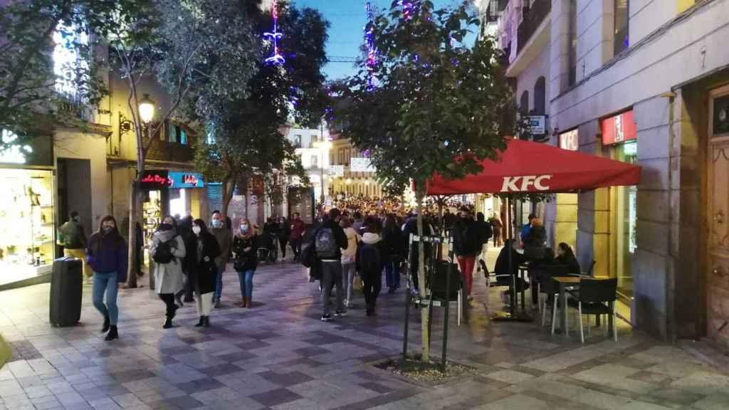 La Calle de la Montera este domingo.